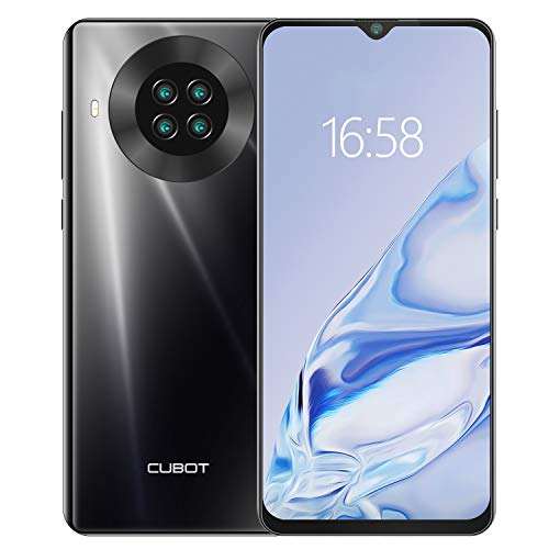 CUBOT Note 20 Smartphone ohne Vertrag 6,5 Zoll 4G LTE Smartphone 64GB ROM 4200mAh Akku, 20MP Kamera, Dual SIM Handy Android 10.0 NFC Face ID(Schwarz)