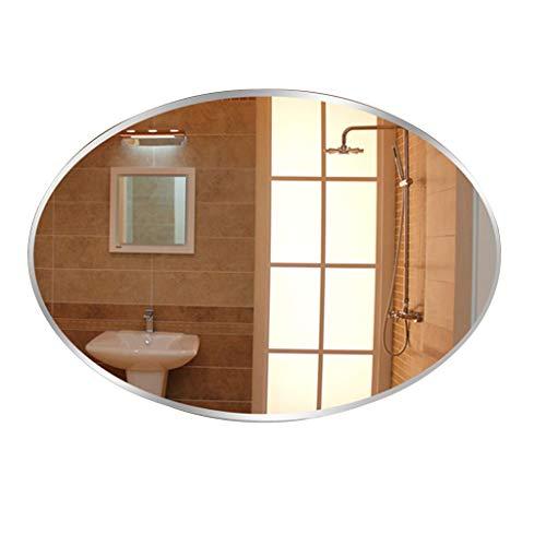 HYXI_specchio Specchio da Bagno a Parete Ovale Orizzontale o Verticale Premium qualità Frameless Kit Completo per casa/Camera da Letto/corridoio (5 Dimensioni)