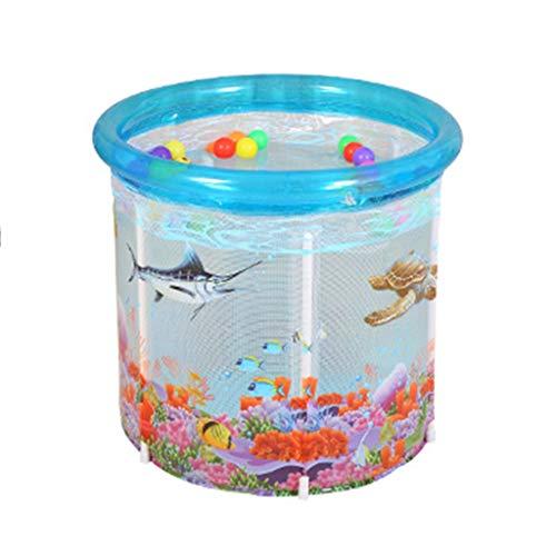 HEG Bebé Piscina hogar Transparente Inflable bebé natación Cubo niños pequeños y niños bañera Gruesa Aislamiento Piscinas hinchables (Size : L(80 * 80cm))