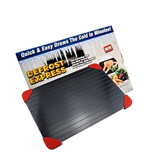 Küchen-Auftauteller Küche Schnelles Auftauen Fleischschalen Schneidebrett Sicherheit Auftauen Tablett Platte für Frozens Food Meat Küchenwerkzeug enthalten 4*Silikonfüße Ecke (M(29.5cm*20.8cm*0.3cm))