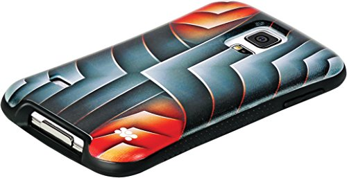 Xtreme Promate Gear Pattern Flex Grip - Carcasa para Galaxy Red Rash-S5, Color Rojo