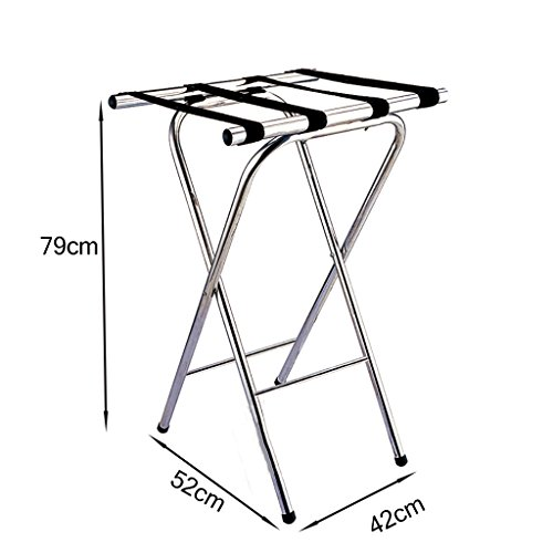 Best Buy! JYXLJ Luggage Rack ,Hotel Room Foldable stainless steel Suitcase Holder, Luggage Rack Sh...