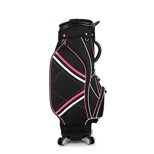 Caddybags Golf Damen Teleskopkugel Universal-Vierrad-Luft-Sendungs-Tasche Leicht zu tragen (Farbe : Black, Size : One Size)