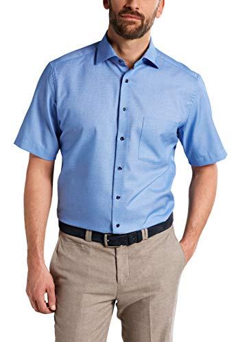 eterna Kurzarm Hemd Modern Fit strukturiert,Türkis,46