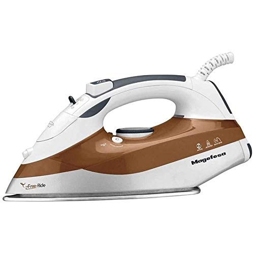 MAGEFESA 02PV6222000 02PV6222000-Plancha a Vapor Modelo Freeride 2500 MGF6222, Aluminio, Acero Inoxidable, Multicolor
