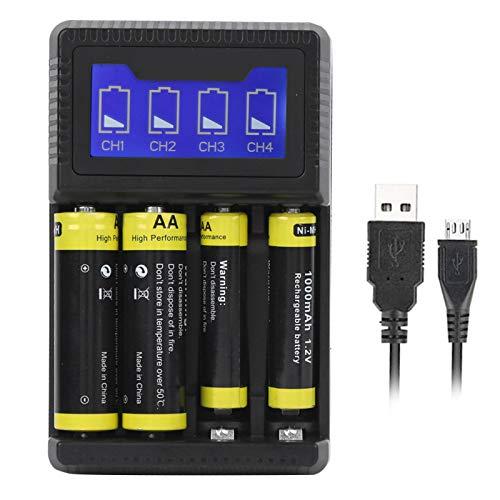 DAUERHAFT Cargador de batería de diseño USB Cargador de batería AAA Conveniente y rápido, para Cargadores de teléfonos móviles