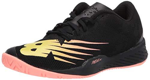 New Balance Women's 896 V3 Hard Court Tennis Shoe, Black/Ginger Pink, 5.5 W US