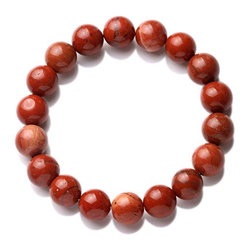 banshren 12mm Curación Piedra Hecho a mano redondo Reiki Beads Pulseras con cuentas pulsera elástica