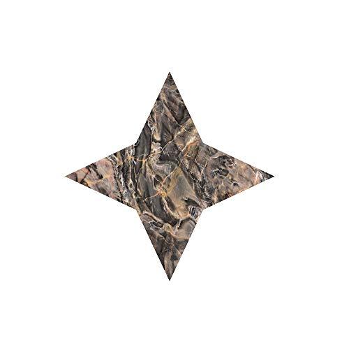 Aufkleber Fliesen Serria® 10 STK. 3D Diagonal Fliesennaht Fliesen Sticker Folie Selbstklebend Boden Wanddekoration Mosaikfliesen Fliesensticker Deko Fliesenfolie (R,10x10cm)