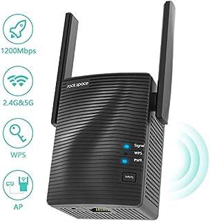 Amplificador Señal WiFi - Amplificador WiFi 5G & 2.4G, Repetidor WiFi Potente AC1200 con Puerto Gigabit,Extensor de WiFi con AP Modo,Instalación Simple con WPS, Repetidor WiFi Largo Alcance Hasta 120㎡