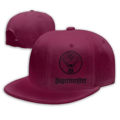 Ooiilpe Men&Women Baseball Hat Jagermeister Logo Baseball Cap Dark Red