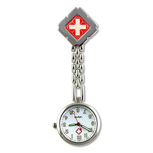 nohbi Medico Reloj de Bolsillo para Doctor,Reloj Colgante de Clip de Mesa para Enfermera,Reloj de Bolsillo Profesional para Hospital-E,Reloj de Bolsillo Enfermera Cuarzo