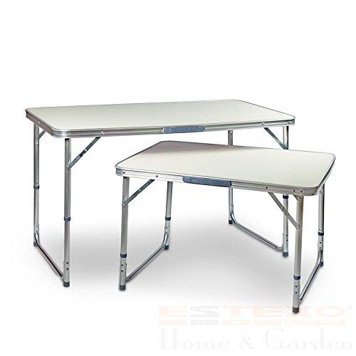 Estexo aluminium campingtafel, klaptafel, tuintafel, picknicktafel, koffertafel, tafel 60 x 80 cm
