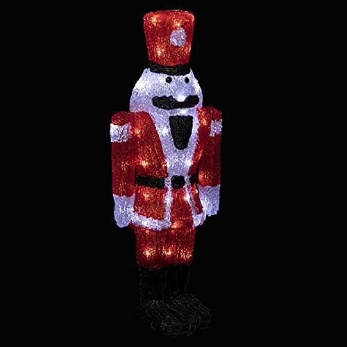 Fééric Lights and Christmas Soldat - Schiaccianoci luminoso, 56 cm, colore: Rosso