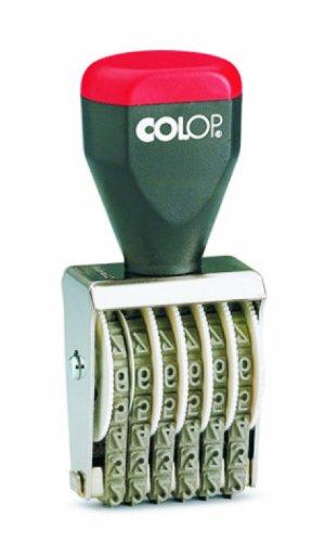 Colop 04006 Nummerierungsstempel in Sichtverpackung 6 Spalten 0-9 Stempeldruckgröße 26 x 44 mm