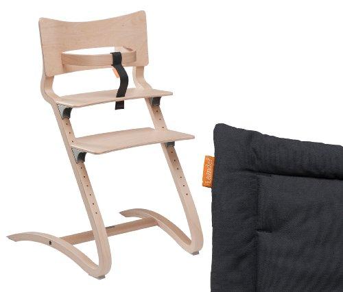 Aktion Leander – Chaise haute avec protection et rembourrage disponible en couleurs assorties, couleur : naturel