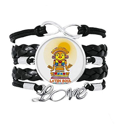 DIYthinker Latin Soul Statue Armband Liebe Schmuck Leder Armband