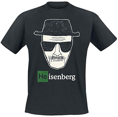 Breaking Bad - Reazioni Collaterali - T shirt Heisenberg Wanted - Maglia con stampa - Comic style - Girocollo - XXL