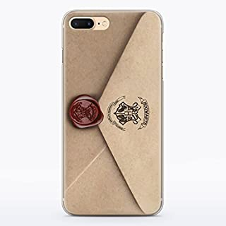 ZIZZDess Harry Potter Hedwing Owl Hogwarts Letter Case For Apple iPhone 8 Plus 2017 Protective Case Clear Transparent Silicone Flexible Design Cool Art Cover (Letter)