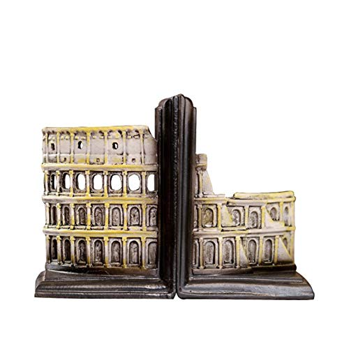 Bookends Of The Colosseum,Decorative Bookends,Office Bookends,Book Ends For Heavy Books,Book Holders For Shelves,Book Stoppers,For Coffee Shop,Bar Decorative,Photography Props ( Size:12x9x16.5cm )