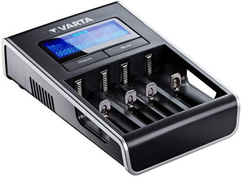 VARTA LCD Dual Tech Charger (para AA/AA), detección de células defectuosas, voltaje...