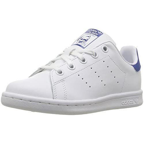 adidas Originals Unisex Stan Smith C Running Shoe, White/Equipment Blue, 12 Medium US Little Kid