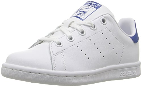 adidas Originals Unisex Stan Smith C Sneaker White/Equipment Blue, 1.5 Medium US Little Kid