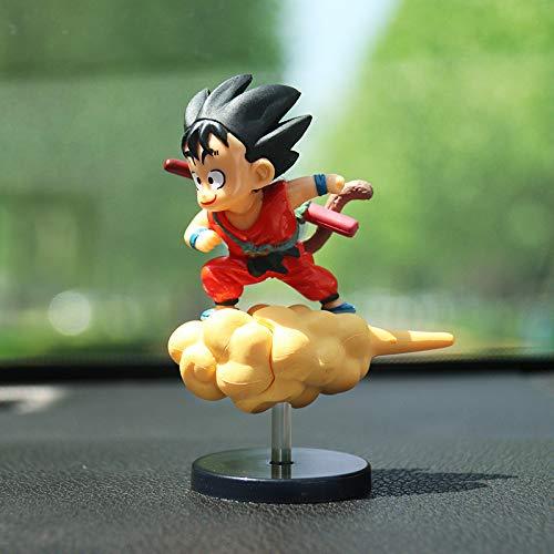 Decoración de coche Adornos de coche Goku Flying Doll Auto Decoración de interiores Araba Aksesuar Accesorios de coche Decoración de interiores de coche (Nombre del color: rojo)