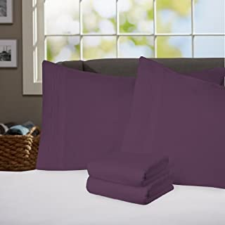 My Sweet Home 1800 Series 3-Piece Egyptian Quality Bed Sheet Set with Deep Pockets, Twin, Purple by My Sweet Home