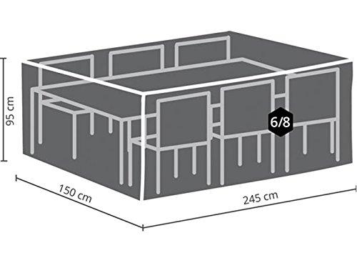 Perel Garden OCGS-L Housse de Protection pour Salon rectangulaire – L – Noir 245 x 150 x 95 cm