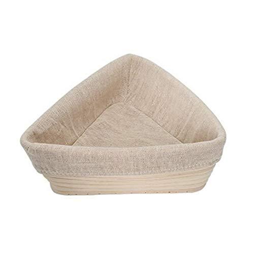 Cesta De Fermentación De Pan De Ratán Natural Triangular Accesorios para Hornear Cesta De Fermentación De Masa Molde De Panadería (con Ropa De Cama) (Size : 20x20x6cm)