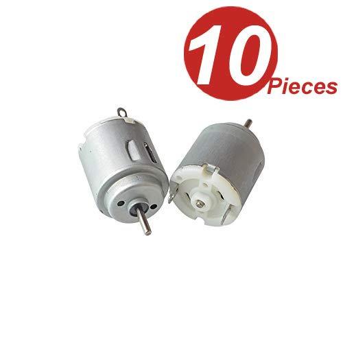 DollaTek 10Pcs DC Motor 140 Mini Elektromotor DC 3-5 V 6300 RPM für DIY Spielzeug