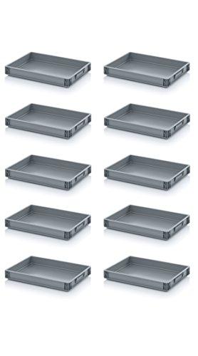 10x Eurobehälter-Eurobox 60 x 40 x 7,5 cm inkl. gratis Zoll