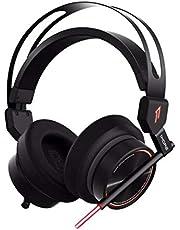 1MORE Spearhead VR ゲーミングヘッドホン 密閉型 ハイレゾ音源対応 ゲーム用 ノイズキャンセリング オーバーイヤ―ヘッドホン 7.1サラウンド 4D振動 高集音性 ダブルマイク 360度調整可能 ノート パソコン イヤホン ヘッドセット カラフルなLED付き TV/Computer/Tablet/PS4/Xbox Oneなどに対応 H1005