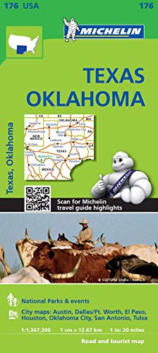 Michelin Texas, Oklahoma Map (Michelin USA, Band 176)