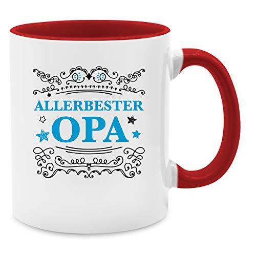 Shirtracer Statement Tasse - Allerbester Opa - Unisize - Rot - Geschenk - Q9061 - Tasse für Kaffee oder Tee