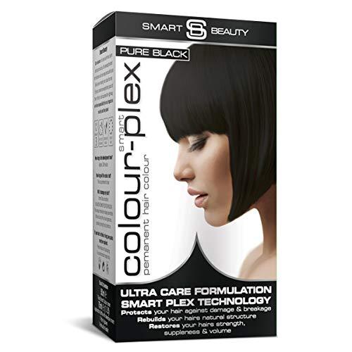 Reines schwarzes Haarfärbemittel   Dauerhafte schwarze Haarfarbe   Schwarzes Haarfärbemittel   Vegane Haarfärbemittel   Nicht an Tieren getestet Haarfarben mit Smart...