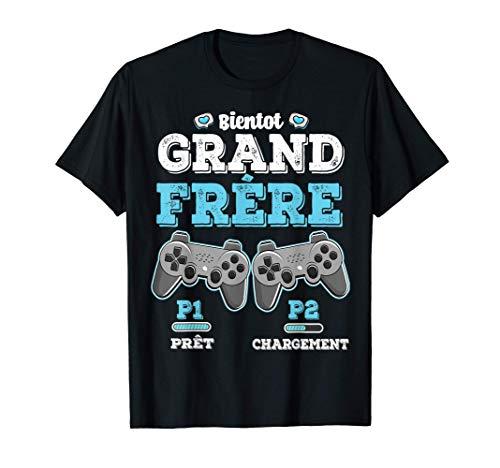 Bientôt Grand Frère Annonce Grossesse Manettes Garçon Enfant T-Shirt