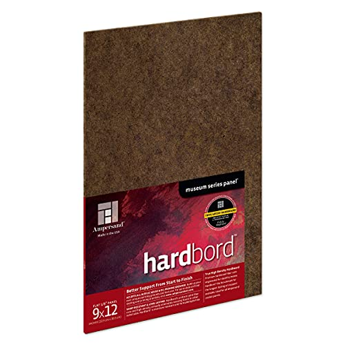 Ampersand Art Supply Hardboard Wood Painting Panel: Museum Series Hardbord, 9'x12', 1/8 Inch Flat Profile