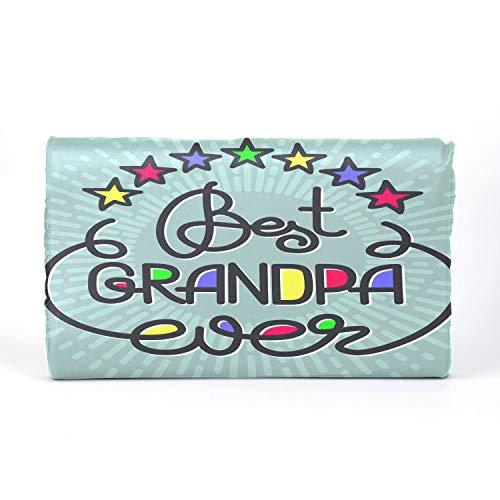 QiyI ChildNeckPillow ThrowPillowsforKidsBed Latex Pillow with Best Grandpa Ever Handwritten Lettering Grandparents Cotton Pillowcase 17.3 X 9.9 X 2.3 in for Boys Girls 2-10 Years Old Children