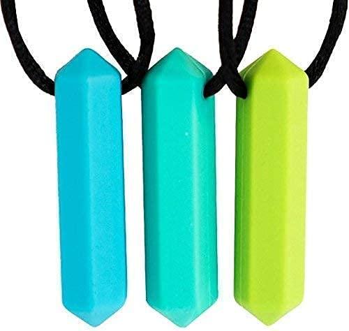 Tilcare Chew Chew Sensory Kauen Halskette - Am besten für Kinder oder Erwachsene, die gerne beißen oder Autismus haben - Langlebiges und starkes Silikon-Kauspielzeug - Kaukette für Jungen und Mädchen