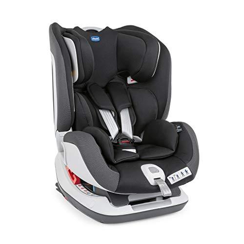 Chicco Seat Up 012 Silla de Coche Reclinable Bebés de 0-25 kg con ISOFIX, Grupo 0+/1/2 para Niños de 0-6 Años, Fácil de Instalar, Cojín Reductor, Reposacabezas Ajustables - Negra (Jet Black)