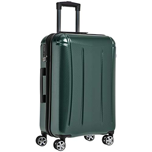 AmazonBasics Oxford Expandable Spinner Luggage Suitcase with TSA Lock - 30.1 Inch, Green
