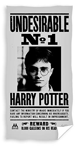 Carbotex - Harry Potter UNDESIDERABLE Wanted Number 1 Original Toalla de Playa Oficial - 70 x 140 cm