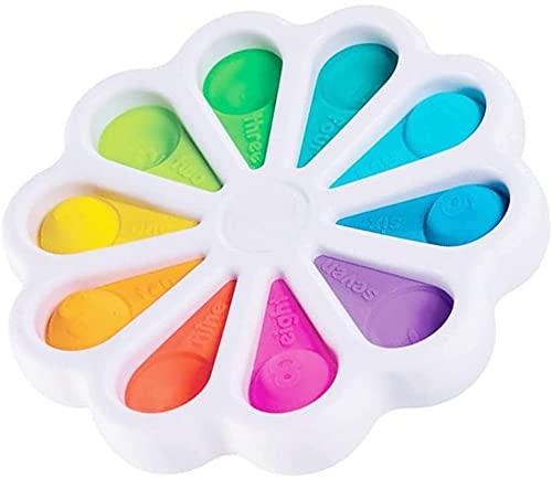OBEST Fidget Toy, Use Materiales de Calidad Alimentaria para Aliviar la Ansiedad, Una Variedad de Placas de Presión para Los Dedos de Color (15 cm)