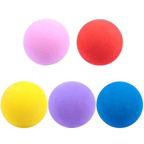VORCOOL - 5 pelotas de golf de espuma para práctica de golf, pelotas de golf para interior y exterior, práctica de oscilación