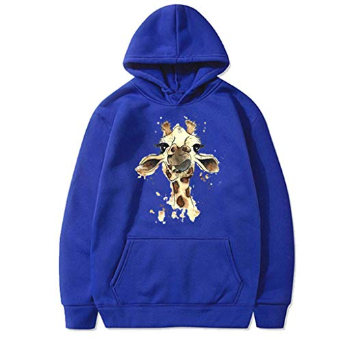 FOTBIMK Hoodie Locker Kapuzenpullover Sweatshirts Giraffe Langarmshirt Frauen Oberteil Damen Top Herbst-Winter Shirt Pullover