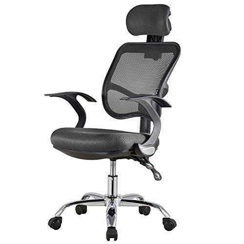 Ordenador Silla de oficina, silla de la tarea ejecutiva, regulable en altura, rotacion de 360 grados, comodo acolchado silla del acoplamiento y ergonomico diseno Silla de oficina Esencial,Azul