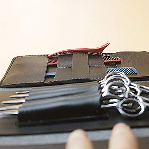 KIBILLL Étui de coiffure étui de coupe outils de coupe de cheveux sac pour le styliste de cheveux d'embrayage (Couleur : Noir)
