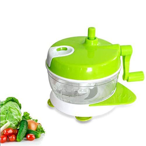 Manuel Alimentaire Hachoir Mélangeur Cuisine Outils Oignon Légumes Processeur Main Rapide Chopper Légumes Fruits Haché Broyeurs Trancheuses,Green
